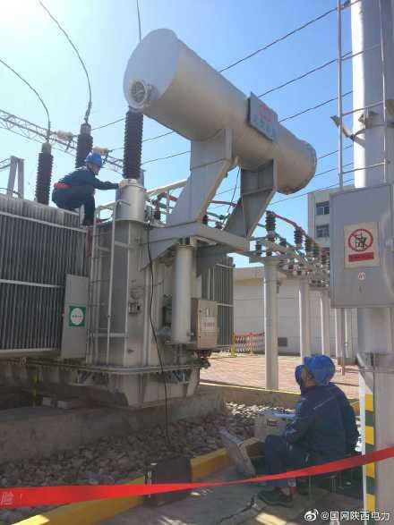 宜川变电站1号主变及母线设备进行预防性试验