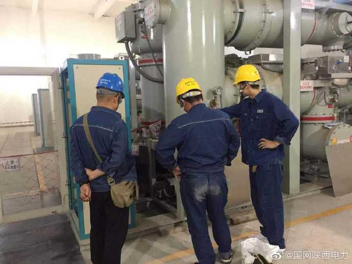西北川变电站110kV 断路器进行了紧急抢修