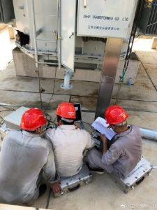 110kV磨石变电站新建#2号主变压器局放试验