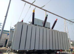 220kV赧水变电站新增#2主变进行高中低绕组变形试验
