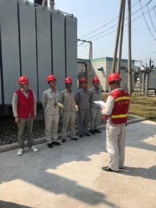 220kV建设变电站接地电阻测量