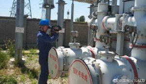 国网沧州供电公司对220千伏马奇变电站进行带电检测