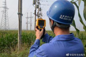 """国网元氏县供电公司对全县高低压线路和设备进行""""地毯式""""排查"""