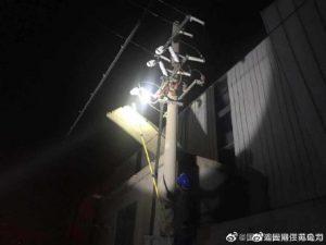 国网东海县供电公司变压器抢修