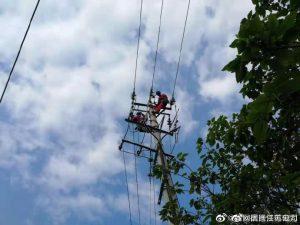 宿迁泗洪县供电公司杆线入地除隐患