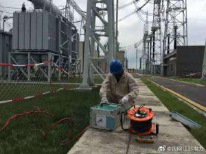 江苏省送变电有限公司对1000千伏吴塘2线进行预防性试验