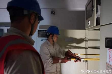 高邮广播电视台的10千伏配电房检修
