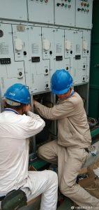 涟水县供电公司更换环网柜及自动化设备,消除隐患