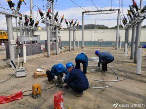 国网平邑县供电公司110千伏山阴变电站消缺整改
