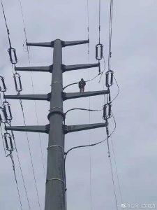 35千伏王集线2号塔C相更换导线2000余米