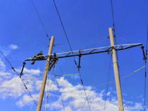 巡检发现110千伏褚岭线65号绝缘子放电严重