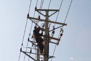 兰陵县供电公司10千伏线路拆除迁改