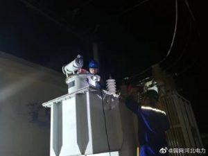 饶阳县供电公司35千伏马屯变电站主变检修