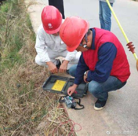 配电台区进行接地电阻测试以及线路红外测温