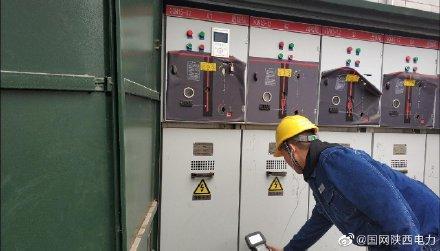 国网蓝田县供电公司环网柜和电缆分支箱带电检测