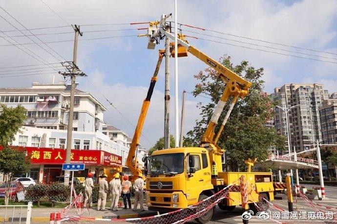 国网海门市供电公司开展旁路消缺作业