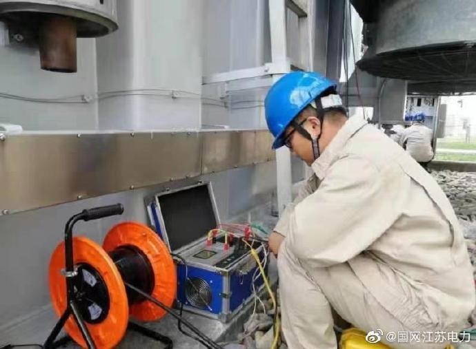 江苏500千伏吴江变,对5号主变A相进行抢修和预防性试验工作
