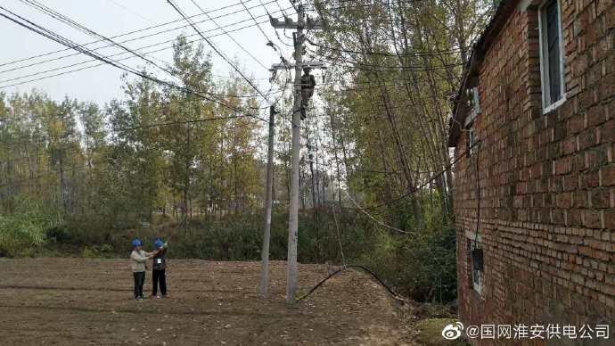 顺河供电所对顺河镇延年村延年后庄进行变压器增容