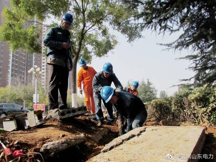 国网肥城市供电公司对某小区敷设小区专用电缆