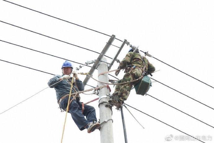 田庄镇部分架空线路改为地埋电缆