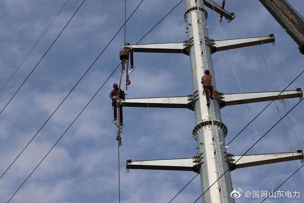 国网庆云县供电公司对部分线路进行迁改