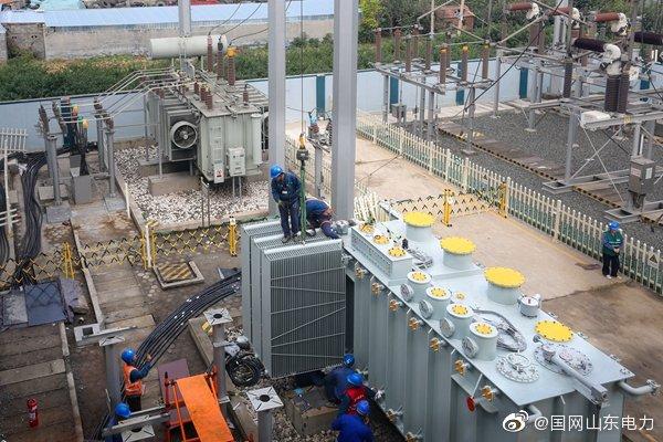 邹平市供电公司完成110千伏黛溪变电站2号主变增容工作