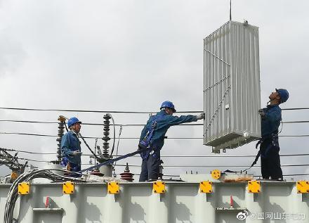 110千伏垦利站2号返厂升压改造变压器进行了安装、调试