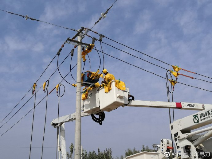10千伏会王线主干线10号杆开展带电作业