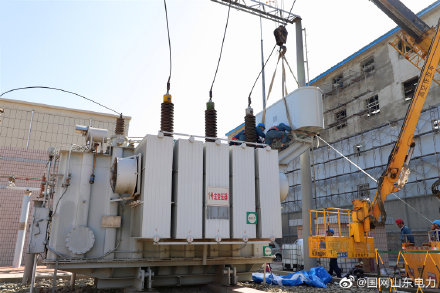 110千伏文化路变电站1号主变压器进行升级改造