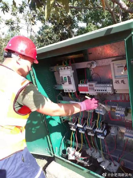 高新区城管局队箱变、配电柜进行全面检修和维护
