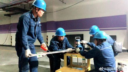 为汉中玫瑰庄园配电工程进行10千伏电缆头制作、试验、安装,铜牌制作