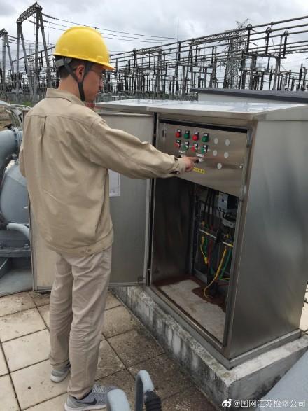 国网江苏检修公司500千伏石牌重点检测主变铁芯接地电流