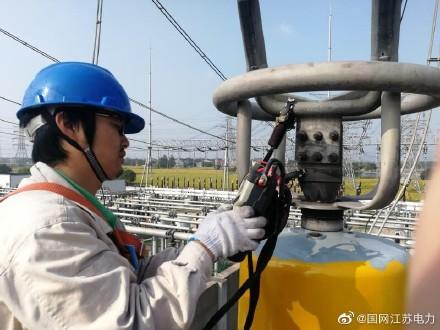 500千伏吴江变STATCOM区域进行搭接面直流电阻试验