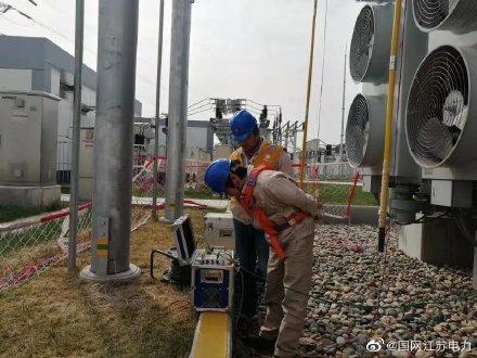 苏州STATCOM站开展年度检修工作,对电力设备逐一进行预防性试验
