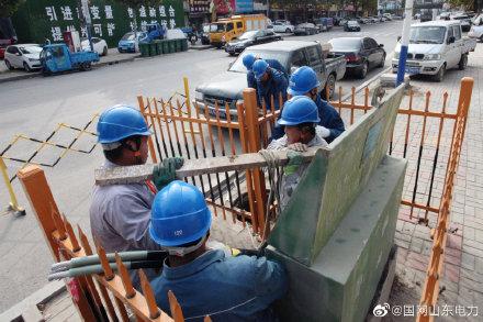 国网禹城市供电公司线路检修、更换低压分支箱、维修环网柜、变压器接火